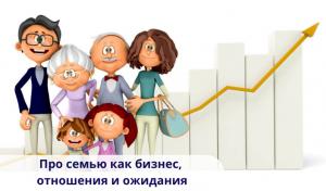 Про семью как бизнес, отношения и ожидания